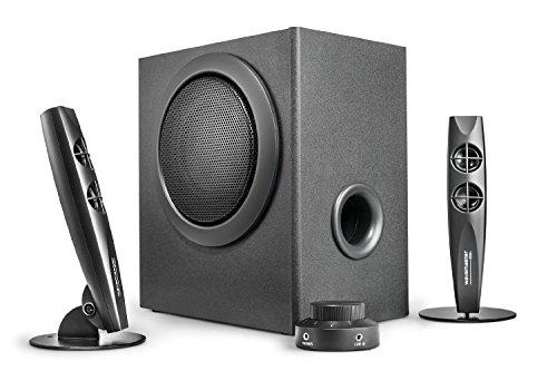 Wavemaster Stax 2.1 Stereo Lautsprecher System schwarz/silber