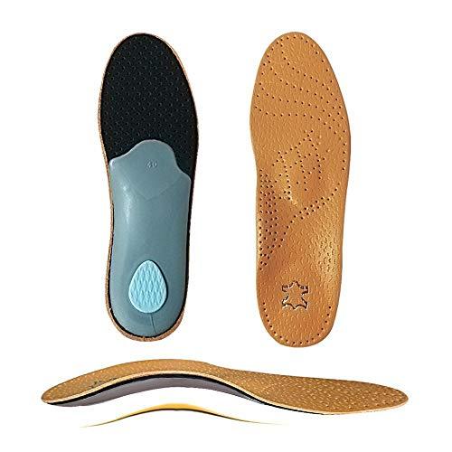 Einlegesohle Insole Premium Leder Orthese Plattfuß Schuh Einlegesohlen High Arch Support Orthopädisches Pad Zur Korrektur Ox Leg Health Fußpflege Eu41To42