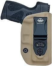 Taurus G2C Holster, Kydex IWB Holster for G2C Taurus Holster & Millennium PT111 G2 / PT140 Concealed Holster - Kydex Holster Taurus PT111 G2C 9mm Concealed Carry Pistol Case (Tan, Right Hand Draw)