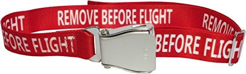 """Skybelt - Cintura da aereo """"Remove Before Flight"""", colore: Rosso"""