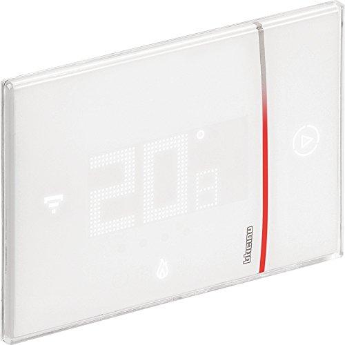Bticino X8000 Termostato Connesso da Incasso con Wi-Fi Integrato, 2 W, 240 V, Professionista, da Incasso, Bianco