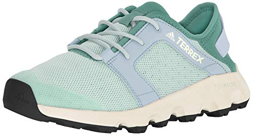 adidas outdoor Women's Terrex CC Voyager Sleek Walking Shoe, Clear Mint/True Green/Chalk White, 5 M US