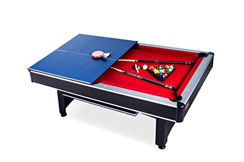 Rack Scorpius 7-Foot Billiard/Pool and Table Tennis Multi Game Table