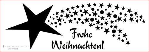 graphits Schablone Weihnachten Sternschnuppe, Frohe Weihnachten, 01-990-1001 Fensterschablone, Dekoschablone, Größe anpassbar