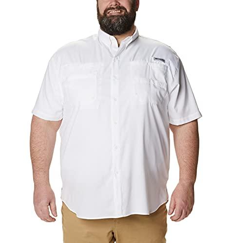 Columbia Men's PFG Tamiami II Short Sleeve Shirt — Big,White,4X