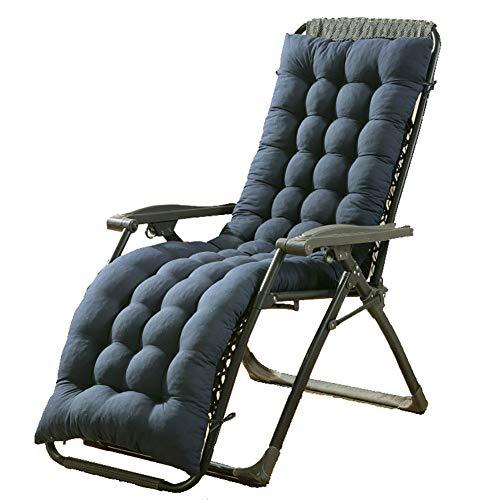 TYXTYX Coussin de Chaise de Soleil Épaissir Folding Berçante Coussin Non-dérapage De Jardin Terrasse Outdoor Confortables Automne et Hiver Fauteuil de Salon(Taille: 160X48CM, sans Chaise),Blue