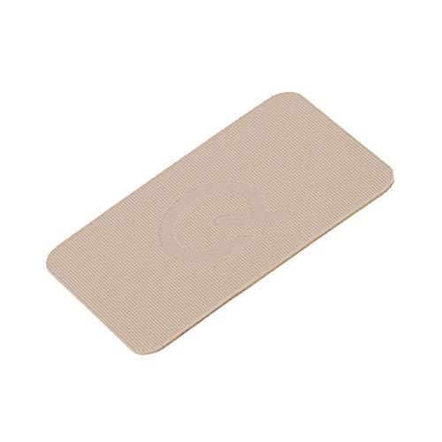 greenteQ Premium Unterlegplatten - Abstandshalter, Plättchen aus Kunststoff | hohe Tragkraft | 25 Stück 60x40x1mm beige