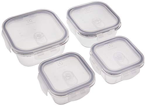 Kit Potes de Vidro 4 Peças Electrolux Transparente