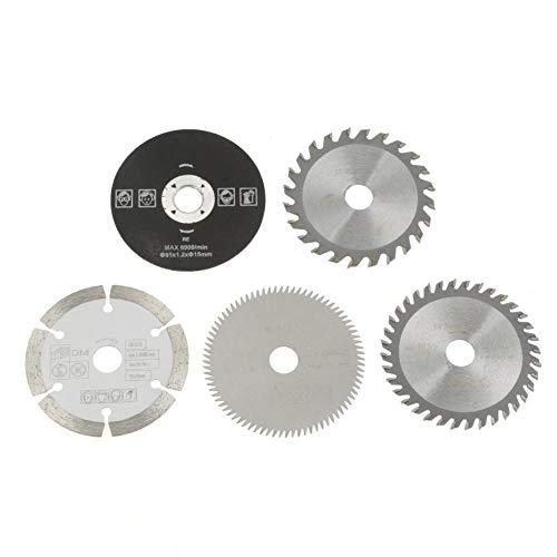 Lames de scie - Lame de scie circulaire for carbure mini de 15 mm de diamètre intérieur 85 mm for outil de coupe 5 pièces