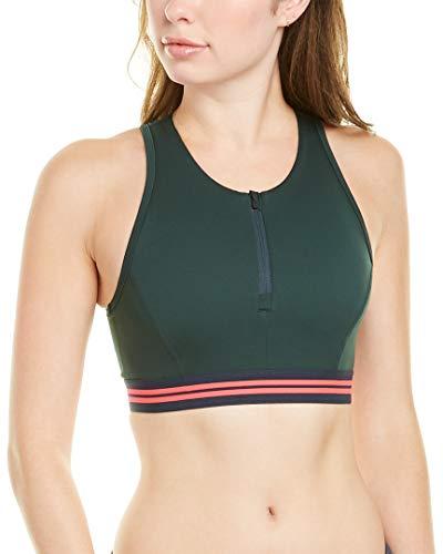 LNDR Womens Elements Sports Bra, Xs, Green