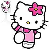 Hello Kitty 1 - Lámpara de noche para niño (personalizable, sigue el enfoque en la descripción)