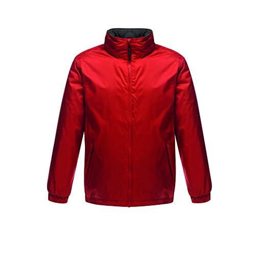 Regatta Bomber Fleece Lined Jacket Veste, Multicoloured (Classic Red/Seal Grey), XXL Homme