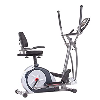 Body Champ 3-in-1 Exercise Machine Trio Trainer Plus Two Silver