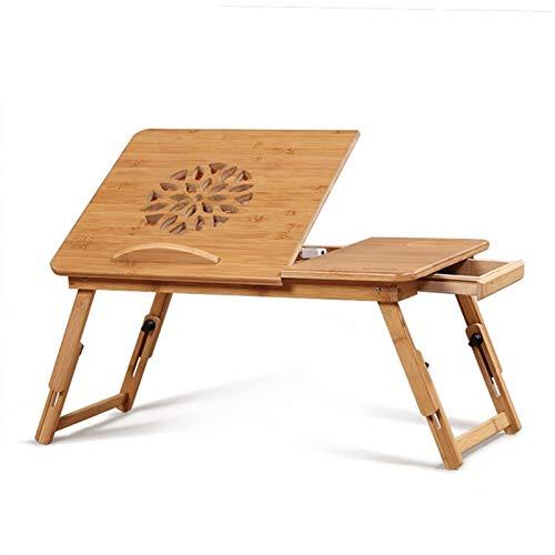 Escritorio plegable para computadora de madera maciza, mesa perezosa portátil para sala...