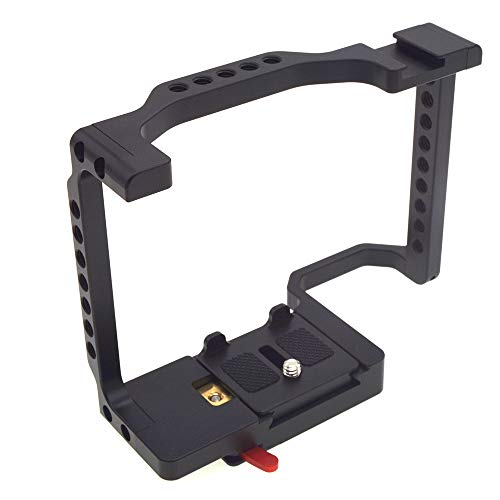 MeterMall Useful Camera Cage Full Frame with Shoe Mount & Rosette Mount for Sony a7II a7SII a7III a7RIII a9