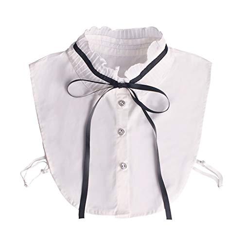 Tandou Retro Damen Blusenkragen Bogen, Abnehmbare Krageneinsatz Für Pullover Accessoires
