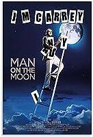 ジムキャリー映画ポスター月の男ポスター装飾絵画キャンバス壁アートリビングルームポスター寝室の絵画-50x75CMフレームレス