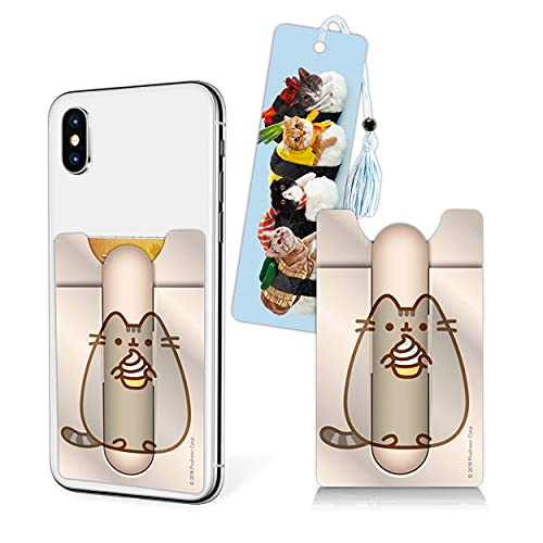 Pusheen Merchandise Set mit Pusheen Mobile Wallet und Sushi Cat Lesezeichen Bundle Pusheen The Cat Merch für Mädchen Jungen Pusheen Geschenkset