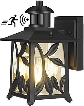 Wihtu Motion Sensor Outdoor Wall Mount Lantern