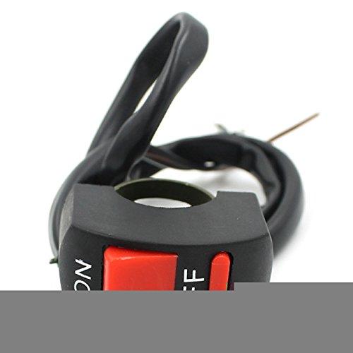 rrunzfon ON/OFF Interruptor a mariposa del interruptor con 3cables para moto/Electric Vehículo Black