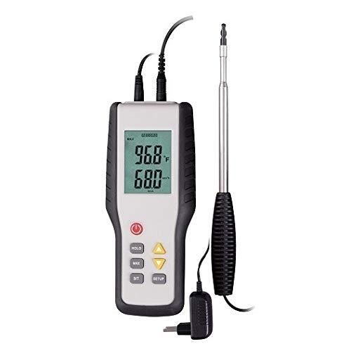 doctor-san® Anemometer 2067 | Wind-Strömungs-Messgerät | Hitzedrahtanemometer | misst Windgeschwindigkeit, Luftdruck, Temperatur | inkl. Koffer