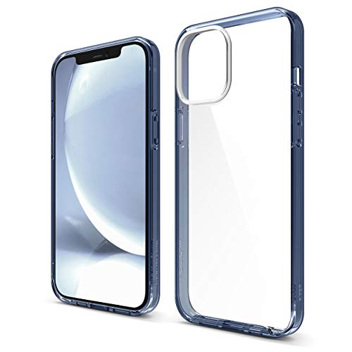 elago Hybrid Clear Case Compatible with iPhone 12 Pro Max Case 6.7 Inch (Pacific Blue) - Shockproof Bumper Cover Protective Case