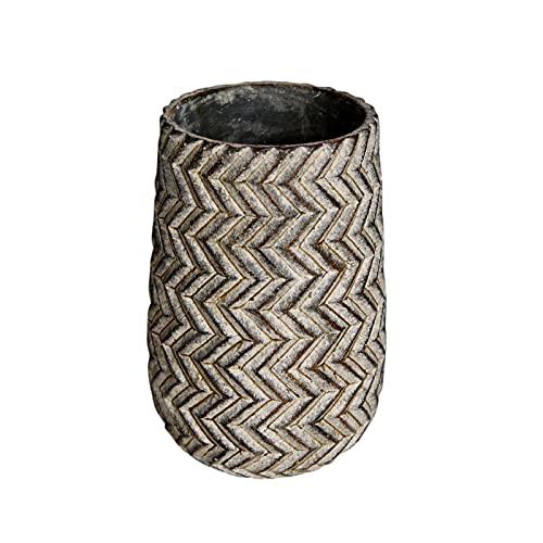 SUHETI Macetas de Cemento con Patrón de Neumáticos, Creatividad Maceteros Decorativos Interior, para Flores Áloe Orquídea Plantas Suculentas Cactus,C