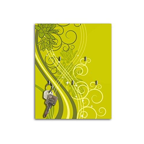 Dalinda Steelprint Porte-clefs Mural avec Design Vert sB559 Flair relaxdays Porte-clés