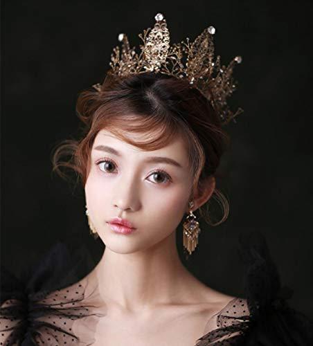Vintage Kristallen Kroon Koningin Ronde Kroon Bruidsjurk Diner Headdress Verjaardag Accessoires