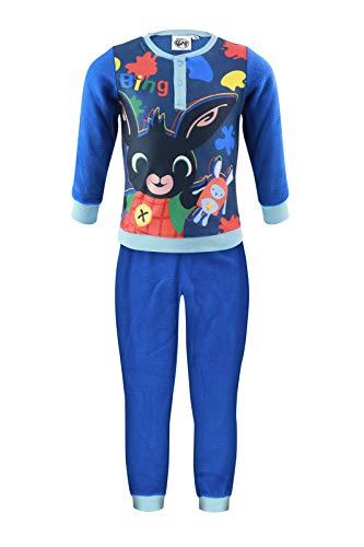 Characters Cartoons - Niña niño – Pijama Premium con caja de forro polar a juego 2 piezas camiseta y pantalón – Bing Frozen Marvel Avengers Spiderman Bing Blue 1099 5 años