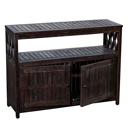 DTY Outdoor Living Longs Peak Eucalyptus Sideboard, Outdoor Living Patio Furniture Collection - Espresso