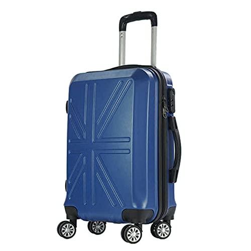Maleta de 4 Ruedas con Cerradura TSA, Robusto Carro rígido, Colores Elegantes -Azul_21 Pulgadas