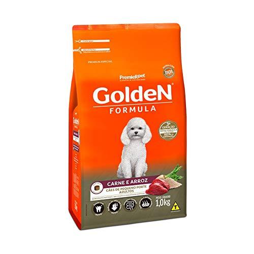 Ração Golden Fórmula Mini Bits Para Cães Adultos Pequeno Porte Sabor Carne E Arroz, 1Kg Premier Pet Para Todas Pequeno Adulto,