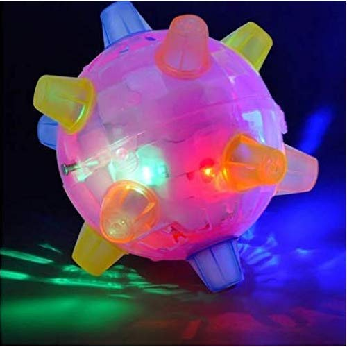 Jumping Activation Ball for Dogs Jump Ball Toys for Kids Boys Girls, Color Random