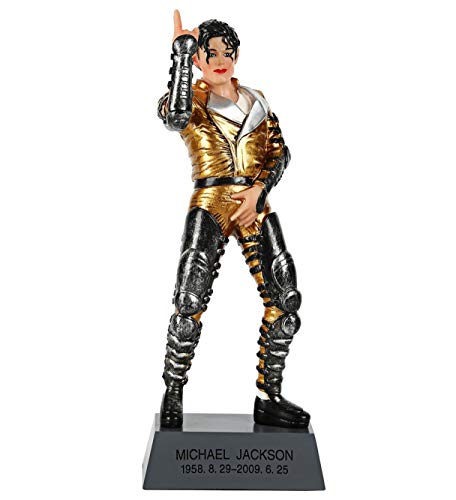 OZUKO Figura de acción de Michael Jackson, estatua conmemorativa para sala de estar, decoración de escritorio, etc. Escultura de resina.