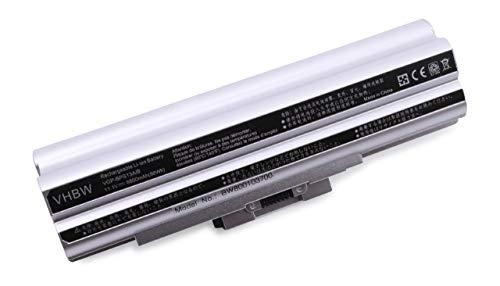 vhbw Batterie Compatible avec Sony Vaio VGN-AW290JFQ, VGN-AW31M/H, VGN-AW31S/B Laptop (8800mAh, 11,1V, Li-ION, Argent) avec Puce intégrée