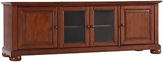 Crosley Furniture Alexandria 60-inch Low-Profile TV Stand, Classic Cherry