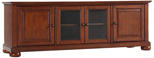Crosley Furniture Alexandria 60-inch Low-Profile TV Stand, Classic Cherry