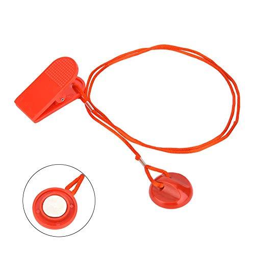 MAGT Laufband Schloss, 1Pc Universal Sport Laufmaschine Sicherheit Safe Key Laufband Magnetische Sicherheit Rundschalter Schloss Fitness Für die meisten Laufband Rot(S)