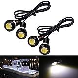 Electrely Luces de Navegación para Barcos, 4 Piezas 12V Luces Interiores LED Lámpara de Navegación Luz de Anclaje Barco Yate Luz Marina Luz Impermeable para Barco Yate (Blanco)