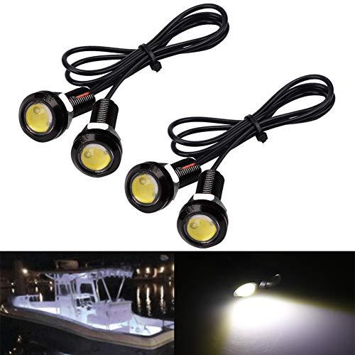 Electrely Navigationslicht Für Boote, 4 Stück 12V Marine Boot LED Licht Signalleuchte wasserdichte Lichter für Boot Yacht Skeeter (Weiß)