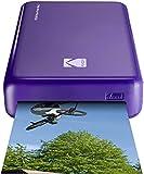 Kodak - Impresora fotográfica mini 2HD, instantánea, inalámbrica y portátil, con tecnología de impresión patentada 4Pass,compatible con iOS y Android, purpura
