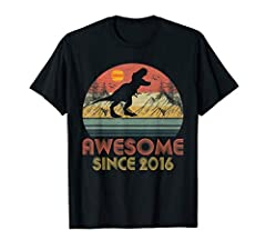This is the perfect birthday gift for the 4th birthday, was born the year 2016. Vintage Retro with the T-rex Dinosaur Saurus celebrate 4th birthday, 4 years old, for anyone who born in 2016, turning 4 years old, awesome since 2016 and fabulous. Perfe...