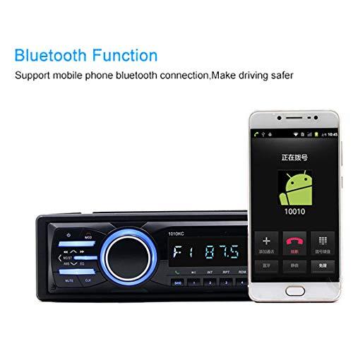 DONGMAO Panneau détachable Autoradio 1 Din 1010KC Bluetooth Audio Stéréo FM USB TF Carte Aux in Télécommande Musique