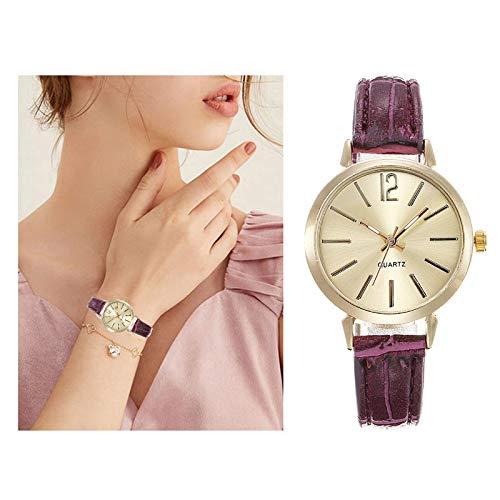 Relojes Para Mujer Mujeres Mira La Banda De Cuero De Diamante De Navidad ANALOGAL DE CURTUD FASHI Relojes De Muñeca Pulsera Para Reloj De Moda Reloj De Moda Relojes Decorativos Casuales Para Niñas Dam