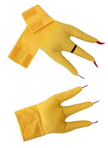 elope Chicken Plush Costume Feet CreatureCuffs Yellow