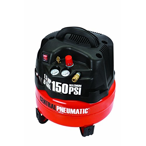 6 gal. 1.5 HP 150 PSI Professional Air Compressor from TNM by Central Pneumatic