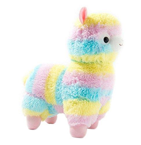 Kuschelige Rainbow Alpaca Soft Puppe weich Lama gefüllt Tier Spielzeug Geburtstag 19'(50cm)