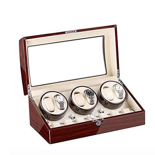 GLXLSBZ Caja Enrolladora Automática De Reloj 6 + 7 Vitrina De Almacenamiento con Motor Silencioso Mabuchi Y 5 Modos De Rotación para La Mayoría De Los Relojes De Pulsera
