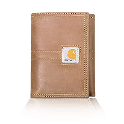 Carhartt Men's Legacy Trifold Wallet, brown, One Size